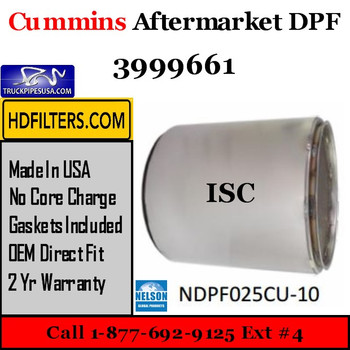 3999661-NDPF025CU-10 3999661 Cummins ISC Engine Diesel Particulate Filter DPF