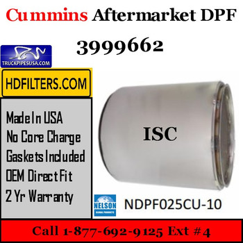 3999662-NDPF025CU-10 3999662 Cummins ISC Engine Diesel Particulate Filter DPF