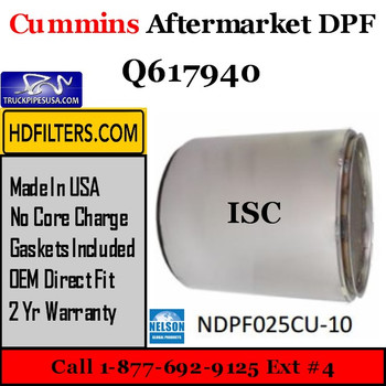 Q617940-NDPF025CU-10 Q617940 Cummins ISC Engine Diesel Particulate Filter DPF