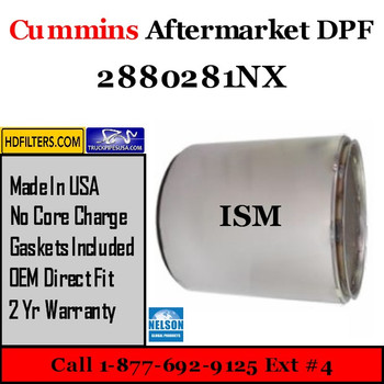 2880281NX-NDPF056CU-10 2880281NX Cummins ISM Engine Diesel Particulate Filter DPF