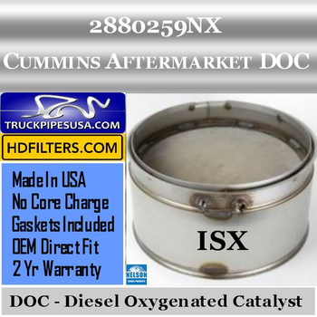 2880259NX-NDOC080CU-10 2880259NX Cummins ISX Engine Diesel Oxygen Catalyst DOC