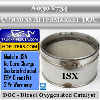 A030X734-NDOC080CU-10 A030X734 Cummins ISX Engine Diesel Oxygen Catalyst DOC