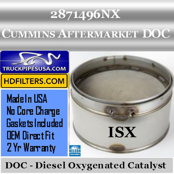 2871496NX-NDOC079CU-10 2871496NX Cummins ISX Engine Diesel Oxygen Catalyst DOC