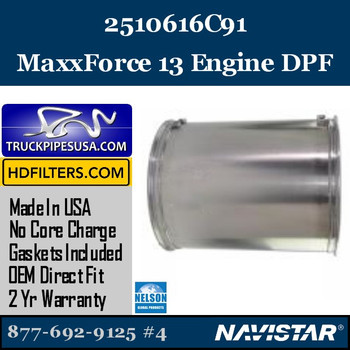 2510616C91-NDPF061NV-10 2510616C91 Navistar MaxxForce 13 Engine DPF
