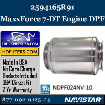 2594165R91-NDPF024NV-10 2594165R91 Navistar MaxxForce 7/DT Engine DPF