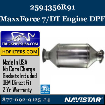 2594356R91-NDPF032NV-10 2594356R91 Navistar MaxxForce 7/DT Engine DPF