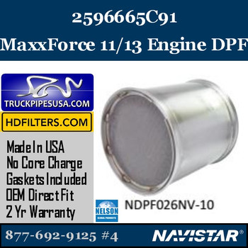 2596665C91-NDPF026NV-10 2596665C91 Navistar MaxxForce 11 / 13 Engine DPF