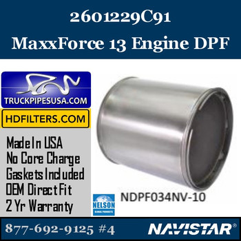 2601229C91-NDPF034NV-10 2601229C91 Navistar MaxxForce 13 Engine DPF
