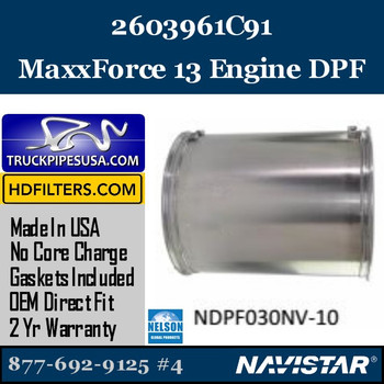 2603961C91-NDPF030NV-10 2603961C91 Navistar MaxxForce 13 Engine DPF