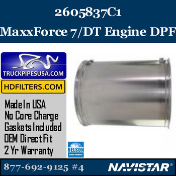 2605837C1-NDPF053NV-10 2605837C1 Navistar MaxxForce 7/DT Engine DPF