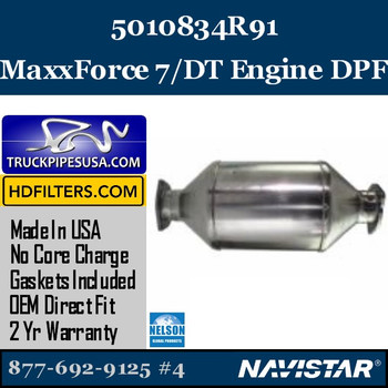 5010834R91-NDPF032NV-10 5010834R91 Navistar MaxxForce 7/DT Engine DPF