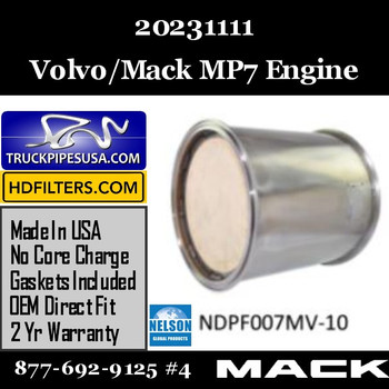 20231111-NDPF007MV-10 20231111 Volvo Mack DPF for MP7 Engine