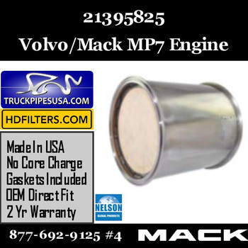 21395825-NDPF046MV-10 21395825 Volvo/Mack DPF for MP7 Engine