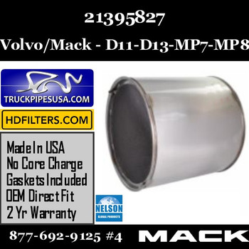 21395827-NDPF060MV-10 21395827 Volvo/Mack DPF for D11 / DD13 / MP7 / MP8 Engine