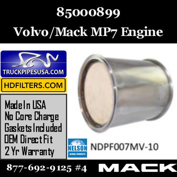 85000899-NDPF007MV-10 85000899 Volvo Mack DPF for MP7 Engine