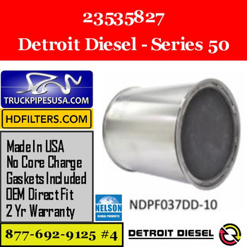 23535827-NDPF037DD-10 23535827 Detroit Diesel Series 50 Engine DPF