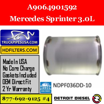 A9064901592-NDPF036DD-10 A9064901592 Mercedes Sprinter 3.0L Engine DPF