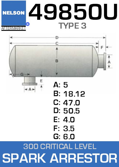 49850U Type 3 Critical Level Spark Arrestor-Silencer