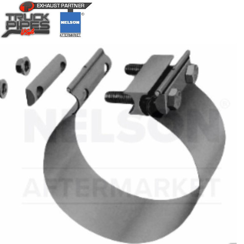 """2.75"""" Torctite Butt Joint Exhaust Clamp Stainless Steel Nelson 90383A"""