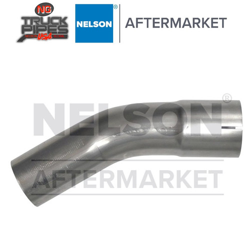 "3"" OD-ID 30 Degree Exhaust Elbow Aluminized x 3.3"" Leg Length Nelson 900162A"