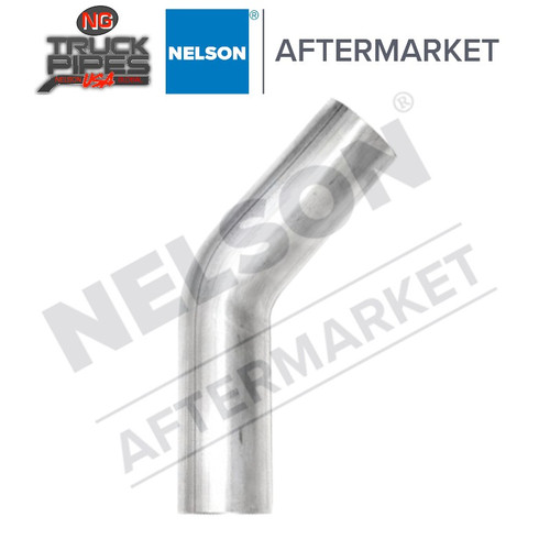 "3"" OD-OD 60 Degree Exhaust Elbow Aluminized x 6.5"" Leg Length Nelson 900168A"
