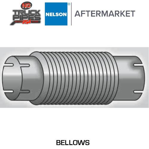 "3.5"" x 18"" ID-ID Stainless Steel Bellow Flex Exhaust Nelson 89787K"