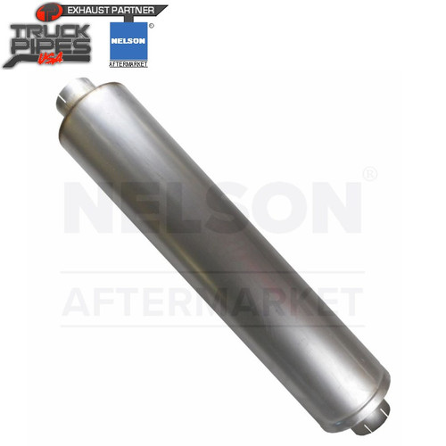 """VTM Muffler - Style 1 EIEO - 9x44 - 4""""ID in/5""""out (Economy) Nelson 86740M"""