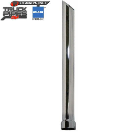 """4"""" x 48"""" Miter Stack Pipe Chrome ID Bottom Nelson 90595C"""