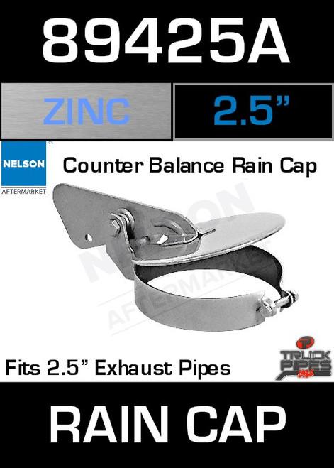 """2.5"""" Exhaust Rain Cap Zinc Plated 89425A"""
