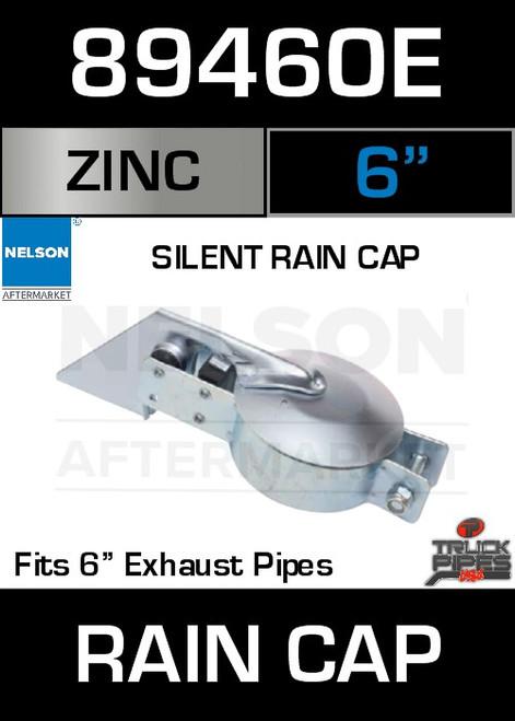"""6"""" Exhaust Rain Cap Zinc Plated Silent 89460E"""