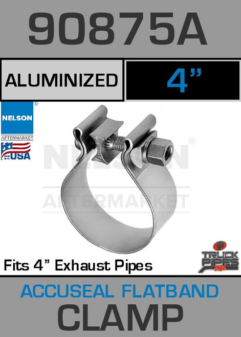 "4"" Aluminized Steel AccuSeal Exhaust Clamp  90875A"