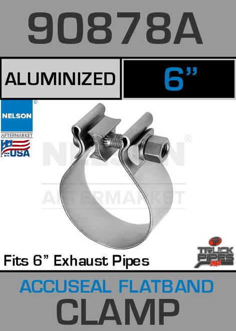 "6"" Aluminized Steel AccuSeal Exhaust Clamp  90878A"