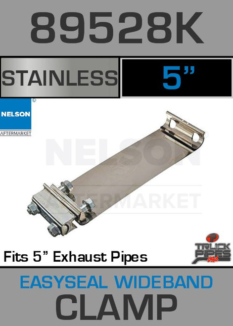 """5"""" E-Z Seal Stainless Steel Exhaust Band Clamp 89528K"""