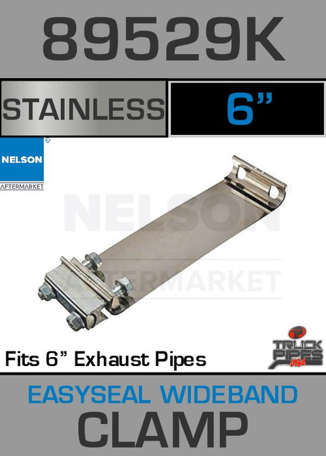 """6"""" E-Z Seal Stainless Steel Exhaust Band Clamp 89529K"""