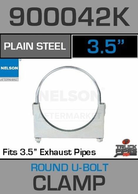 """3.5"""" Standard U-Bolt Plain Steel Exhaust Clamp 900042K"""