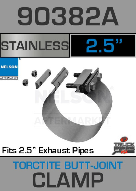 "2.5"" Stainless Steel Torctite Butt Joint Clamp 90382A"