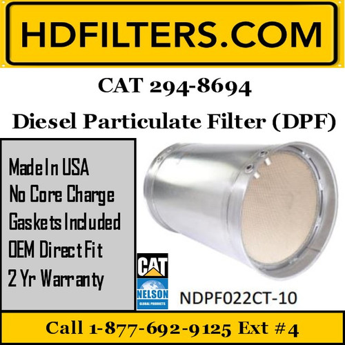 294-8694-NDPF022CT-10 294-8694 CAT C13/C15 DPF Diesel Particulate Filter