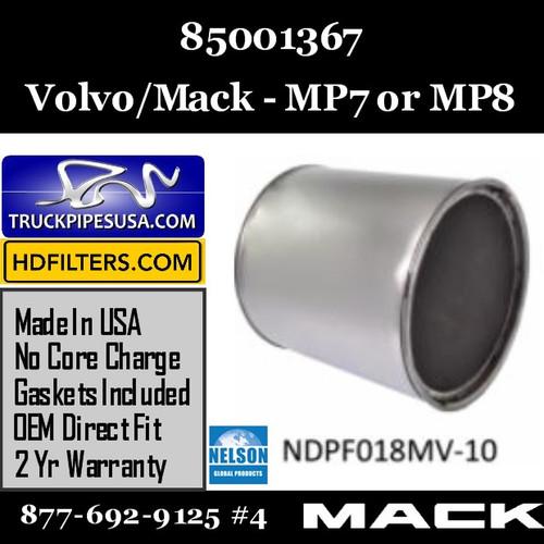 85001367-NDPF018MV-10 85001367 Volvo Mack DPF for MP7 or MP8 Engine