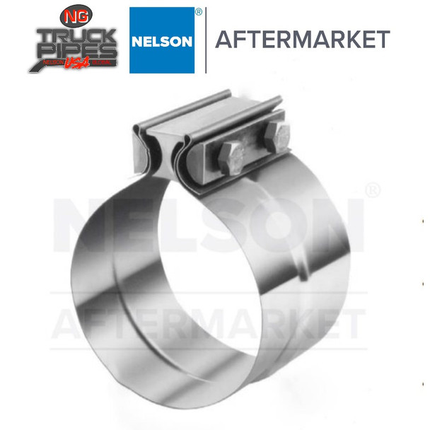 """2.5"""" Torctite Preformed Lap Joint Clamp Stainless Steel (Qty 50) Nelson 90362B"""