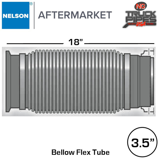 """3.5"""" x 18"""" Emissions Flex with Flare & Marmon Adapters"""