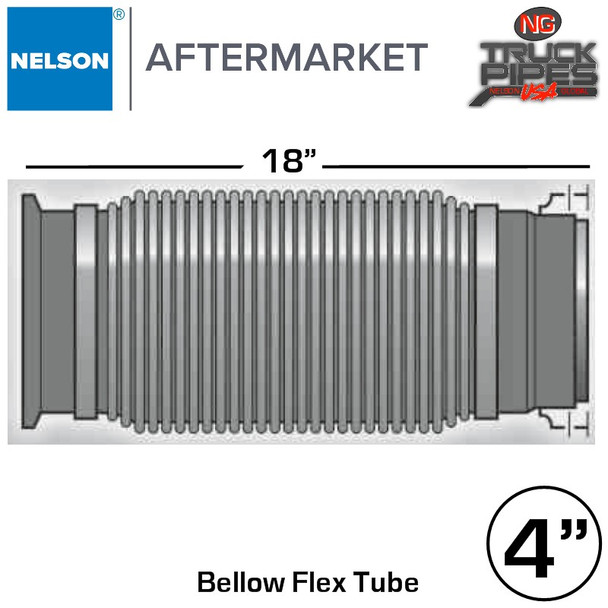 """4"""" x 18"""" Emissions Flex with Flare & Marmon Adapters"""