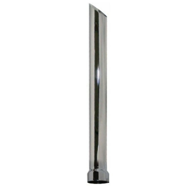 """5"""" x 18"""" Miter Stack Pipe Chrome ID Bottom Nelson 89910C"""