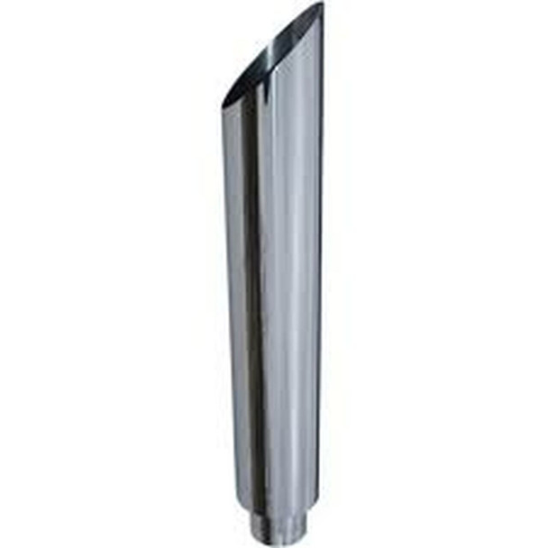 """6"""" Reduced to 5"""" OD x 48"""" Miter Chrome Stack Pipe Nelson  900093C"""