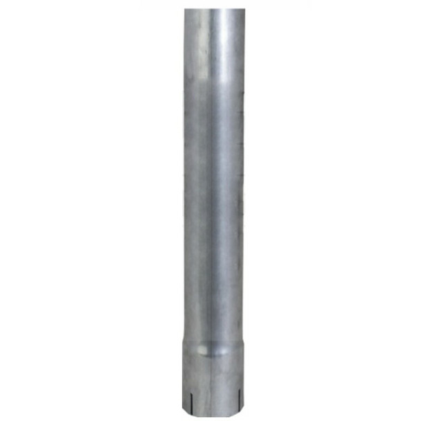 """2.5"""" x 48"""" Straight Exhaust Stack Pipe Aluminized ID Bottom Nelson 89209A"""