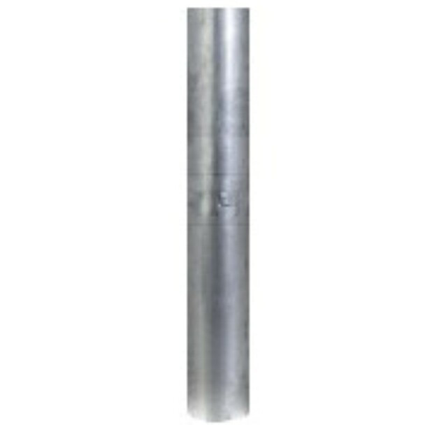 """2.5"""" x 48"""" Straight Exhaust Stack Pipe Aluminized OD Bottom Nelson 89201A"""