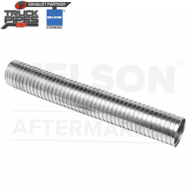 """5"""" ID x 12"""" Stainless Steel Flexible Exhaust Tubing Nelson 89730K"""