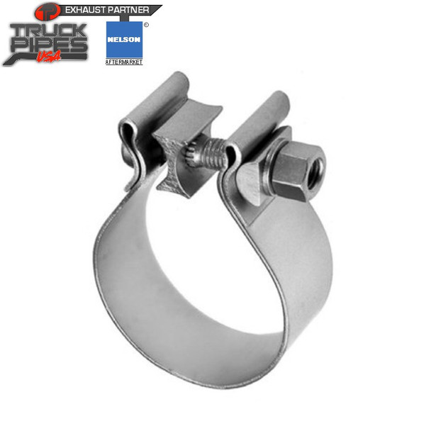 """2"""" Stainless AccuSeal Single Bolt Clamp (T409) Nelson 900016A"""