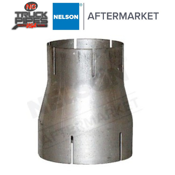 """6"""" x 5"""" ID-ID Reducer Exhaust Aluminized Nelson 89278A"""