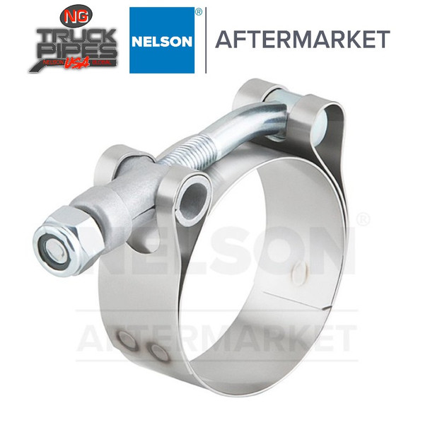 """4"""" T-Bar Exhaust Clamp for Air Intake Applications Nelson 89582K"""