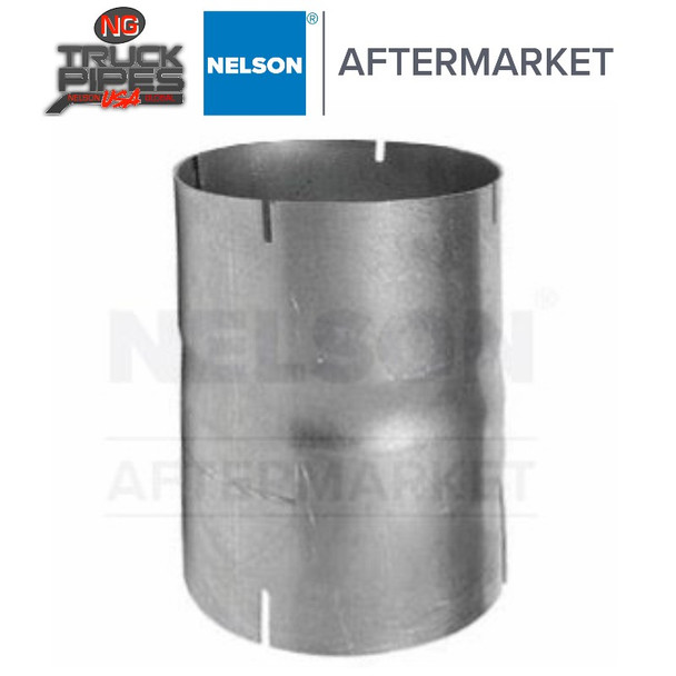 """2.5"""" ID-ID Straight Connector Aluminized Exhaust Nelson 89263A"""